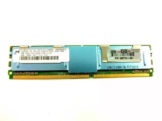 Memoria 4gb Pc2-5300f Hp Pn 398708-061 466436-061 416473-001