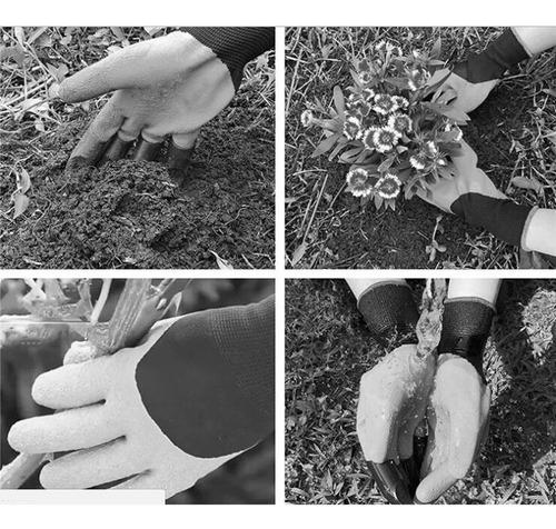 Guantes Seguros Resistentes a Espinas con Garras para cavar y Plantar OPNIGHDYMD Guantes de jardiner/ía jardineros (1 par)