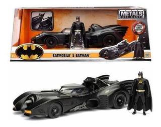 Batman Y Batimovil Metal Escala 1:24 Dc Original Colección F