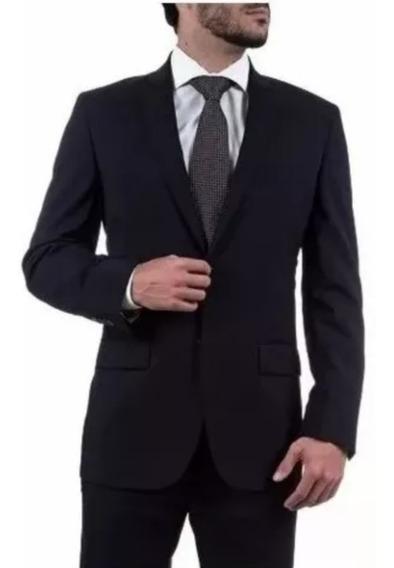 Terno Masculino Slim 2 Botões Preto Oxford