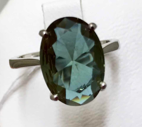 Anel Zultan Tuquia - Oval - A Pedra Que Muda De Cor - Prata