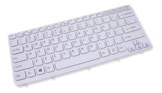 Teclado Para Notebook Sony Vaio Sve14138cxw Branco Abnt2