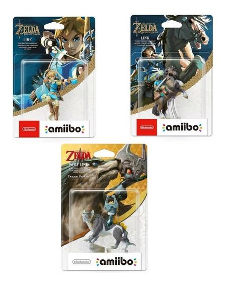 Amiibo Link Archer Rider Wolf Link Zelda Breath Of The Wild