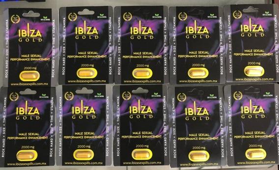 10 Pastillas Estimulante Natural Ibiza Gold Promocion