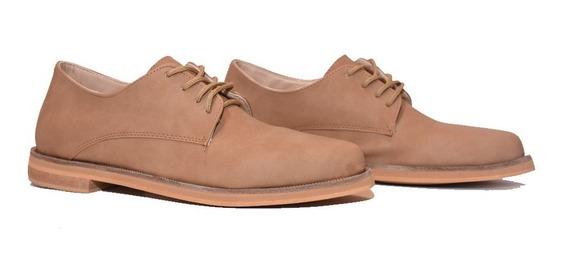 Zapatos Mujer Plataforma Acordonado Cuero Ecologico Verano