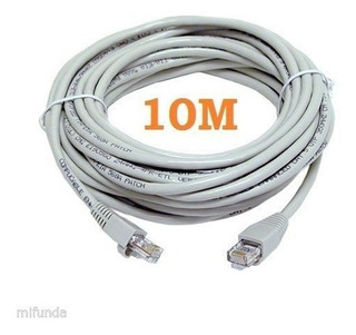 Cable Utp Red 10 Metros Cat5e Armado Patch Cord Rj45 Int.