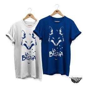 Camisa Cruzeiro La Bestia Raposa Camiseta Feminina Masculino