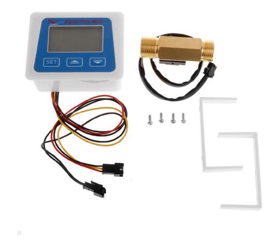Sensor De Fluxo De Água Digital Medidor De Vazão E Temperatu