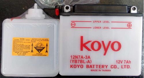 Batería Para Moto Koyo 12n7a-3a, Todos Los Modelos.