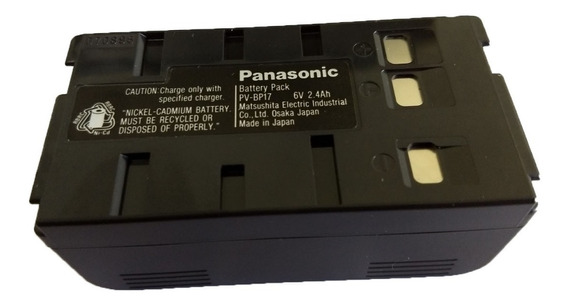 Bateria Para Filmadora Panasonic Pv-bp17 Original Nova