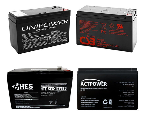 Imagem 1 de 5 de Bateria Selada 12v 7a Cftv Para Alarme Cerca Elétrica Som