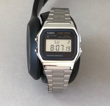 Relógio Casio A168 Prata Aço Retrô Masculino Feminino Novo