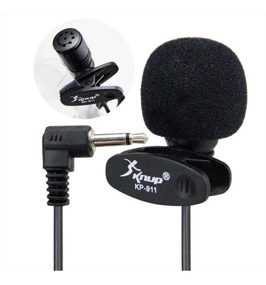 Microfone Lapela Mini Knup Kp-911