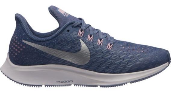 Zapatillas Nike Air Pegasus 35 Gs Nuevas Color Azul Plata