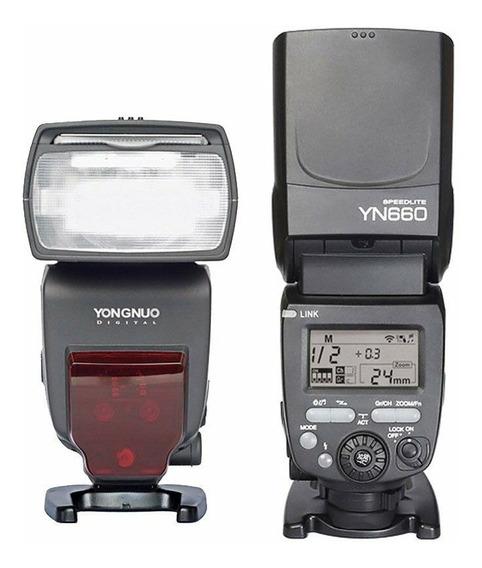 Flash Yongnuo Yn-660 Wireless Nikon Canon Sony + Nfe + Frete