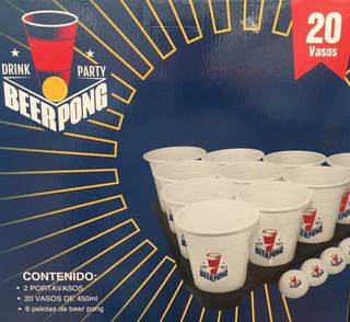 Beer Pong Drink Party [2 Portavasos+6 Pelotas+20 Vasos 450ml
