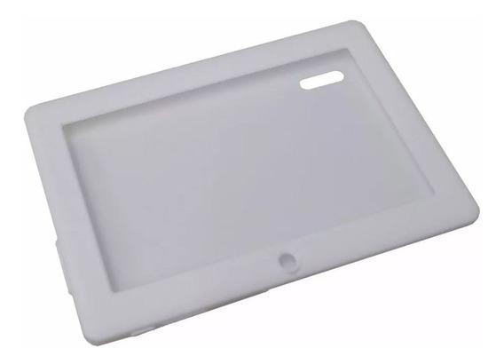 Kit 10 Unid Capa De Silicone Branca Para Tablet 7 Polegadas