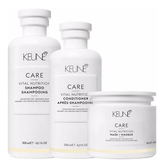 Kit Keune Vital Nutrition Sh 300ml + Cond 250ml+ Másc 200ml