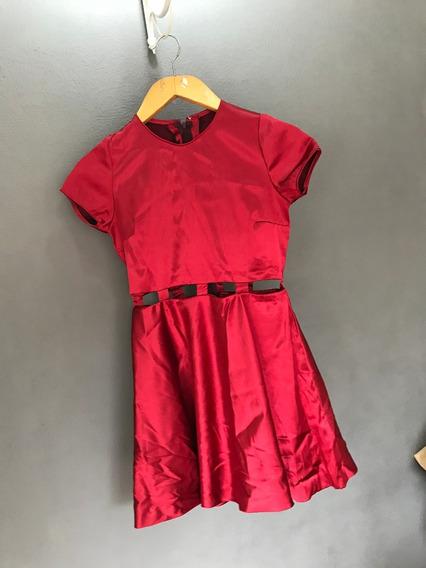Vestido Rojo De Fiesta Acampanado