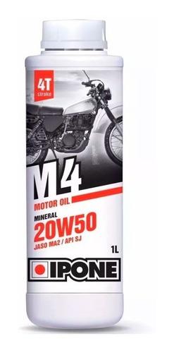 Imagen 1 de 3 de Aceite Lubricante Ipone M4 Mineral 20w50 4t - Cuotas