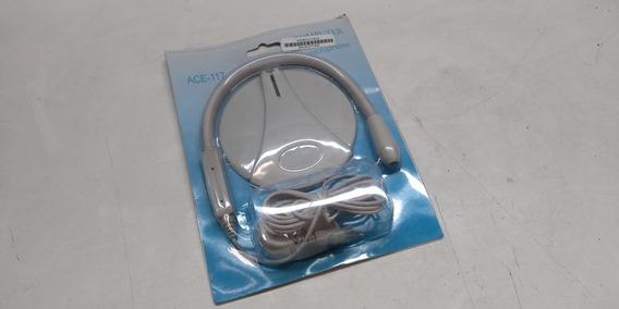 Microfone De Mesa Ace-117 Branco