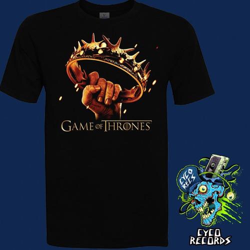 Imagen 1 de 3 de Game Of Thrones - Crown - Series - Polera- Cyco Records
