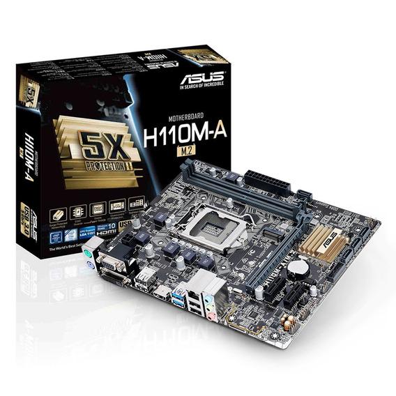 Placa Mae Intel 1151 H110m-a M2 Ddr4 Hdmi/vga Asus