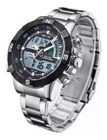 Relógio Masculino Weide Anadigi Wh-1104-1 Prova De Água Luxo