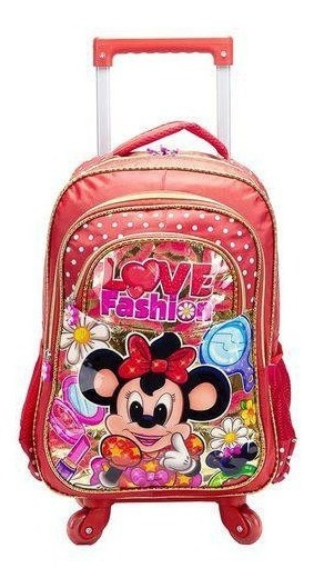 Mochila Giratória Escola Mala Infantil Love Fash Vozz Mc3516