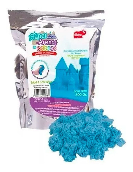 Arena Magica 500gr Colores Kinetic Super Sand Moldeable Play