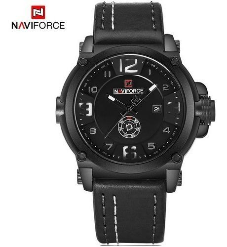 Relógio Masculino Militar Esportivo Pulseira Couro+ Brinde