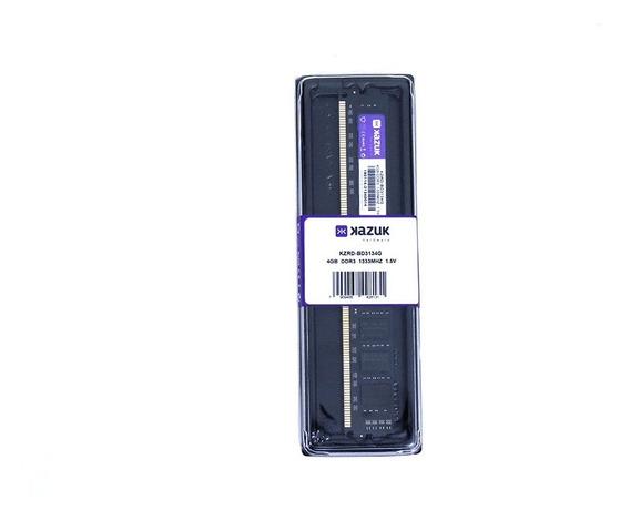 Memória Desktop Kazuk 4gb 1333 Mhz Ddr3 Ram Kzrd-bd3134g