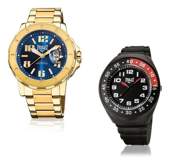 Relógio Everlast Masculino Dourado Analógico E645