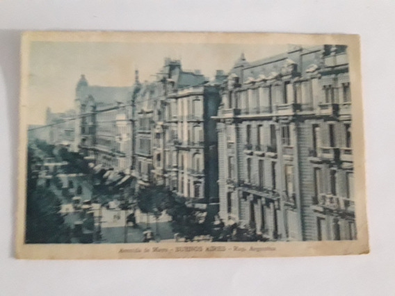 Tarjeta Posta Antigual: Avenida De Mayo