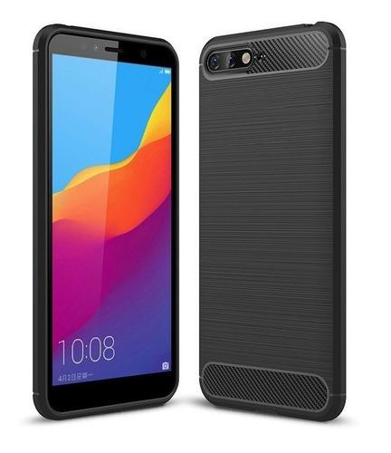 Forro Estuche Protector Funda Carbono Huawei Y6 2018