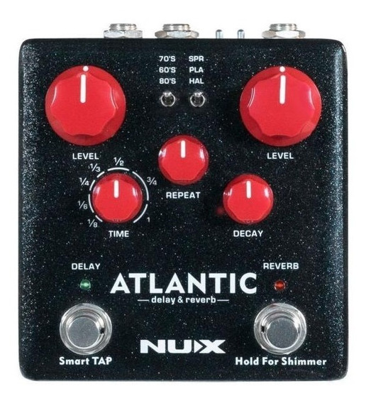 Pedal Nux Atlantic Verdugo Series Delay / Reverb