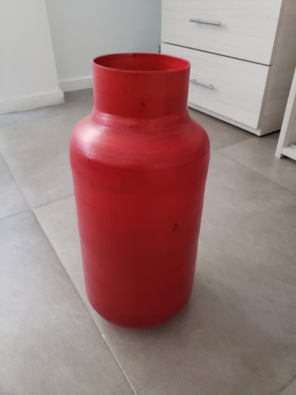 Florero Bamboo Rojo 40 Cm Alto, Super Liviano!