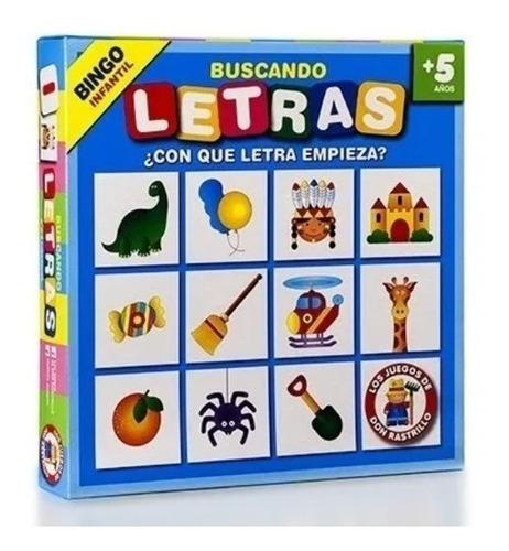 Buscando Letras Bingo Infantil Juego Mesa Ruibal Don Rastril