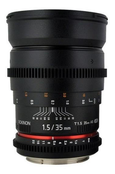 Lente Rokinon 35mm T1.5 Cine As Umc Lens For Sony E Mount