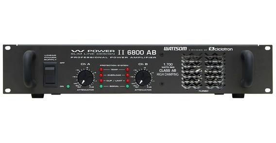Amplificador De Potência 1700w Rms 4 Ohms W Power Ii 6800 Ab
