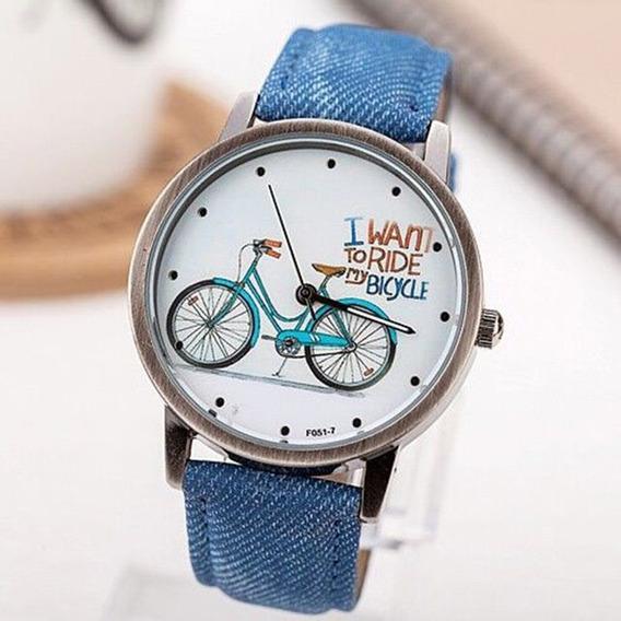Relógio Unissex Masculino E Feminino Bicicleta