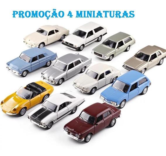 4 Miniaturas Carros Brasília Parati Opala Del Rey Dkw Puma