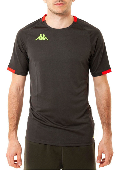 Camiseta Abou 2 Grey-red S Gris Oscuro Hombre Kappa