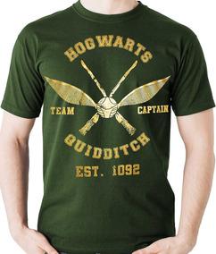 Camiseta Quadribol Hogwarts Harry Potter Geek Camisa Blusa