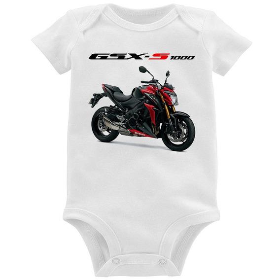 Body Bebê Moto Suzuki Gsx S 1000 Vermelha