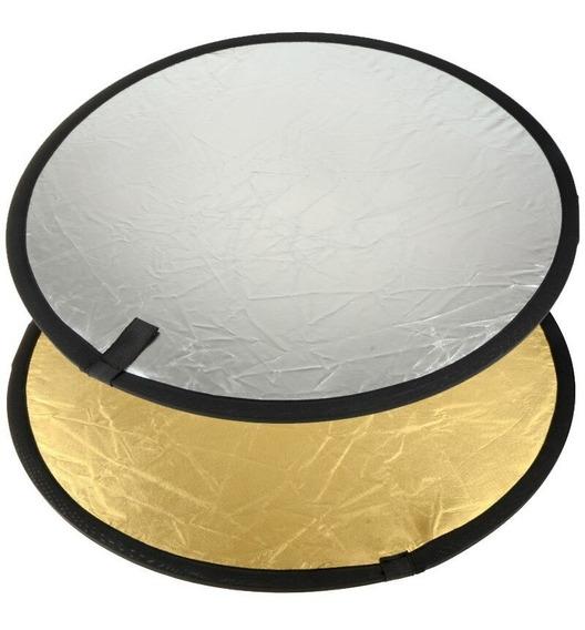 Rebatedor Fotográfico 2 Em 1 60cm Prata/dourado 2x1 Case