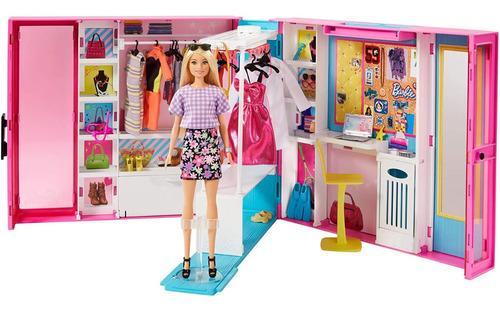 Barbie Closet De Lujo Fashionista Accesorios Y Muñeca Barbie