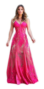 Vestido Longo Festa Tule Madrinha Casamento Formatura #vl22