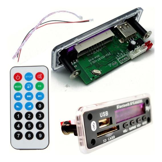 Placa Decodificador Usb Mp3 Bluetooth Fm Aux Leitura Pasta