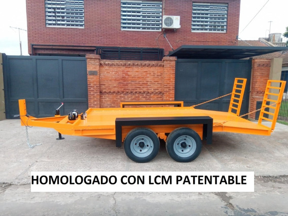 Trailer Carreton Vial 4 Tn Para Mini Pala Patentable Lcm